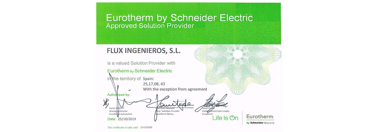 certificado flux ingenieros eurotherm